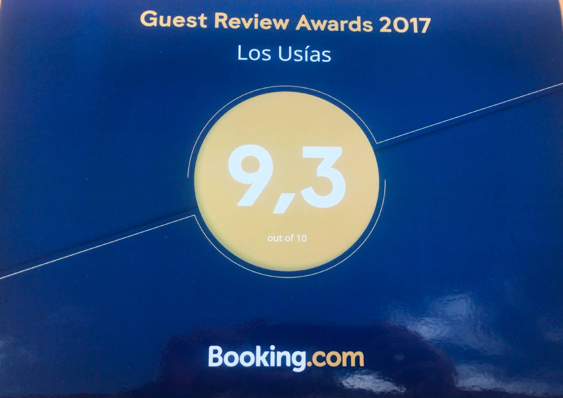 Premio Guest Review Award 2017 de Booking.com